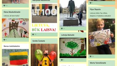 """Panevėžio """"Vilties"""" progimnazijos 1b klasės linkėjimas Lietuvai"""
