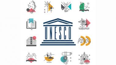 UNESCO Pasaulio paveldui Lietuvoje skirtas stendas