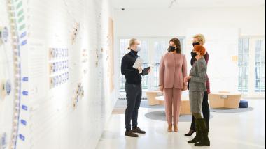 Pirmosios Lietuvos ir Lenkijos ponios lankėsi Valstybės pažinimo centre
