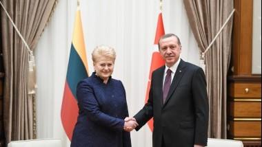 Prezidentė pasveikino Turkiją nacionalinės šventės proga