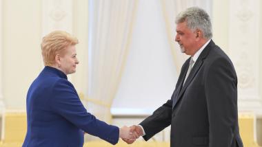 Prezidentė priėmė Vengrijos ambasadoriaus skiriamuosius raštus