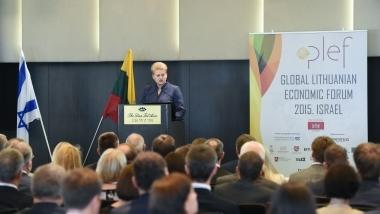 Prezidentė ir verslo desantas Izraeliui pristato Lietuvą