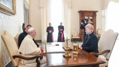 Prezidentės susitikimas su Popiežiumi Pranciškumi