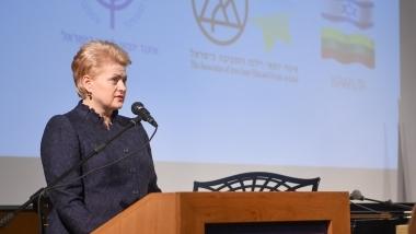 Lietuvos Respublikos Prezidentės Dalios Grybauskaitės kalba susitikime su litvakais Izraelyje